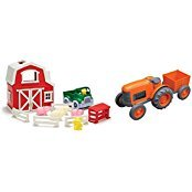 Green Toys Farm Playset & Tractor Vehicle Playsets Toy fot Kids