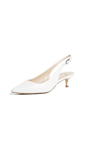 Sam Edelman Damen Ludlow Slingback Pumps Bright White
