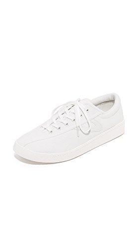 Tretorn Women's Nylite Plus Sneakers, White/White/White, 8 B(M) US