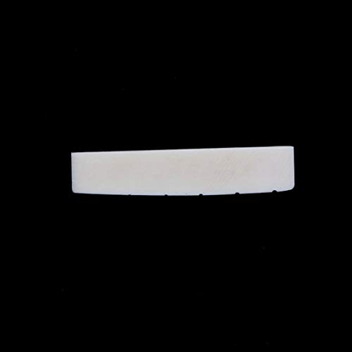 43 x 6 x 9mm 4.6g Beige Buffalo Bone Guitar Pillow Great replacement Slotted Nut For 6 String Acoustic Guitar