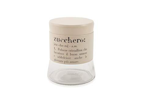 Villa d' Este Home Tivoli 2422988 Victionary Barattolo Zucchero, Vetro/Metallo, Beige Galileo