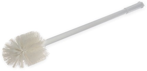 "UPC 085404945508, Carlisle 4000802 Sparta Spectrum Multi-Purpose Round Valve and Fitting Brush, Plastic Handle, White Polyester Bristles, 6"" L x 5"" Dia. Brush, 30"" Overall Length (Case of 6)"