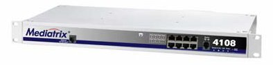 Mediatrix 4108 - 8-Port SIP VoIP Access Device (4108-SIP) with 8 x RJ-11 Connectors, Analog Phone/Fax (FXS) Interfaces & Carrier-Grade Voice Quality by Mediatrix