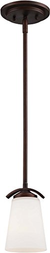 Minka Lavery 4961-284 Overland Park Mini Pendant Ceiling Lighting, 1 Light, 100 Watts, Vintage Bronze