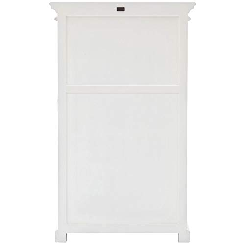 NovaSolo Halifax Pure White Mahogany Wood Storage Cabinet/Pantry Unit With Glass Doors And 6 Shelves by NovaSolo (Image #4)