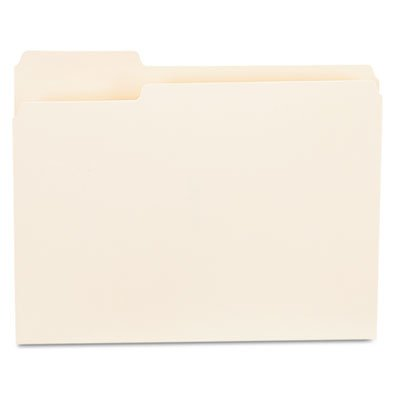 Manila Folders Single Top (File Folders, 1/3 Cut First Position, One-Ply Top Tab, Letter, Manila, 100/Box, Sold as 1 Box, 100 Each per Box)