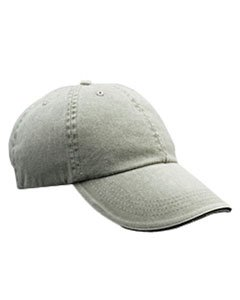 Anvil Solid Low Profile Sandwich Trim Pigment Dyed Twill Cap (Taupe) (One) (Solid Twill Pigment Dyed Cap)