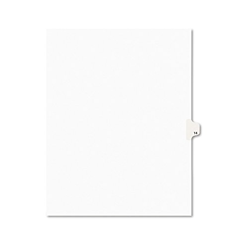 - Avery Individual Legal Exhibit Dividers, Avery Style, 14, Side Tab, 8.5 x 11 inches, Pack of 25 (11924)