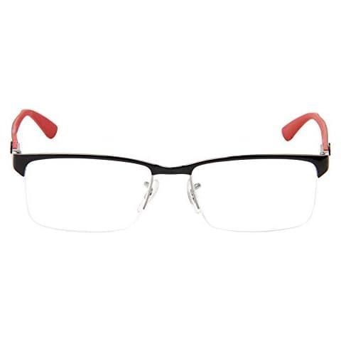 3c71732baa Ray-Ban Men  39 s 0rx8411 No Polarization Rectangular Prescription Eyewear  Frame Shiny