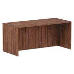 Alera Walnut Desk - Alera Valencia Series Straight Front Desk Shell, 65 x 29.5 x 29.63, Mod Walnut