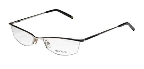 Vera Wang V106 Womens/Ladies Cat Eye Half-rim School Teacher Look Elegant Eyeglasses/Eyewear (52-18-140, ()