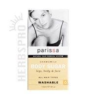 PARISSA HAIR REMOVER,BDY SGR CHAM, 5 OZ
