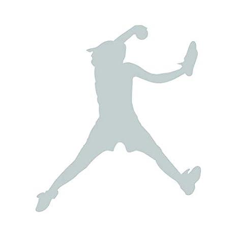 Softball Pitcher Sticker Die Cut Decal