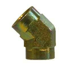 1//4 Female Pipe x 1//4 Female Pipe Midland 5505-4 Steel 45degree Female Elbow