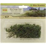 Wee Scapes Architectural Model Trees Wire Foliage Trees (medium green) 1 1/2 in. - 3 in. pack of 24