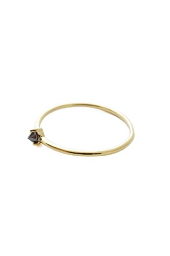 100 Soles Gold Gem - HONEYCAT Black Iron Ore Crystal Point in 24k Gold Plate | Minimalist, Delicate Jewelry (G,7)