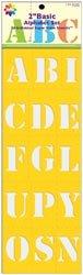 Delta Creative Stencil Mania Stencils, 7 by 20-Inch, 97 0720-152 Basic Alphabet (2-Pack) -