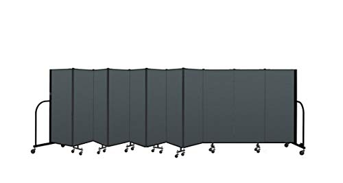 (Screenflex Commercial Portable Room Divider (CFSL5011-DN)5 Feet High by 20 Feet 5 Inches Long, Designer Mallard Fabric)