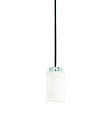 (KICHLER 42123CH Reynes 1LT Mini-Pendant, Chrome Finish and Opal Etched Glass)