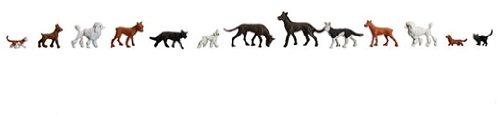 Faller 154012 Cats & Dogs 13/HO Scale Figure Set
