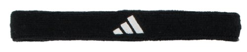 adidas Unisex Interval Slim Headband, Black/White, ONE SIZE