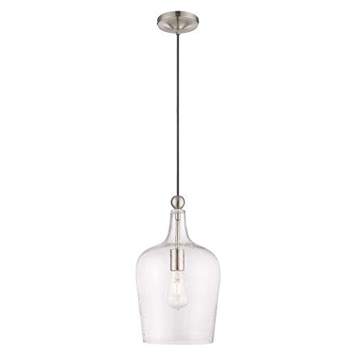 Livex Lighting Glass Pendant - Livex Lighting 41237-91 Art Glass - 9.25