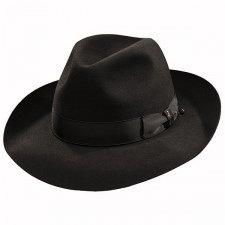 - Borsalino Ernesto - Beaver Fur Felt Hat - Black-Black-58