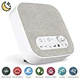 White Noise Machine for Sleeping, Aurola Sleep Sound Machine with Non-Looping Soothing Sounds for Baby Adult Traveler, Portable for Home Office Travel   Larger Image