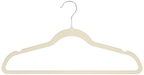 AmazonBasics Velvet Suit Hangers, 30-Pack,  Ivory/Beige