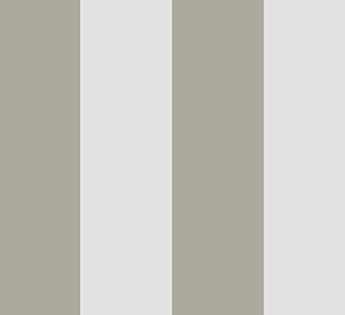 Tempaper Stripe Removable Wallpaper, Grey