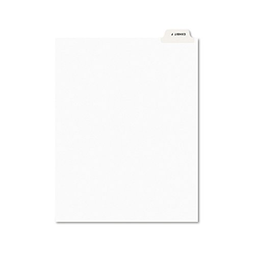 (Avery 11945 Avery-Style Preprinted Legal Bottom Tab Divider, Exhibit F, Letter, White (Pack of 25))
