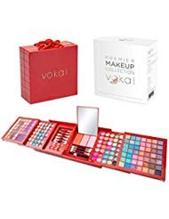 Vokai Makeup Kit Gift Set  168 Eye Shadow Colors, 6 Lip Glosses - Pop-Up Mirror - Case with Carrying Handle