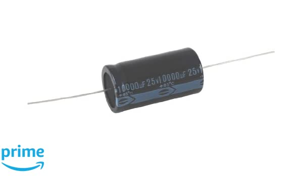 20/% Capacitance Tolerance Axial Lead 100V NTE Electronics NEH1.0M100AA Series NEH Aluminum Electrolytic Capacitor 1.0/µF Capacitance