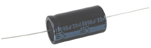 NTE Electronics NEH1000M50FF Series NEH Aluminum Electrolytic Capacitor, 20% Capacitance Tolerance, Axial Lead, 1000µF Capacitance, 50V Voltage