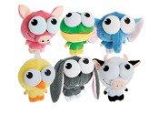 Multipet International 36306 5.5'' Big Eyez Squeaky-Eyed Animals Dog Toy Assorted Styles