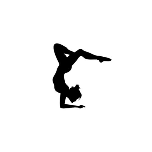 sansiwu Q Gym Yoga Character Dance Room Practice Room Health and Wellness Decoration Background Wall Sticker ()