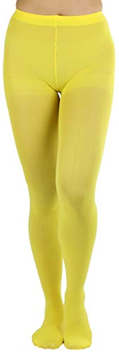 ToBeInStyle Women's Sheer Nylon Tights - Yellow - One Size]()