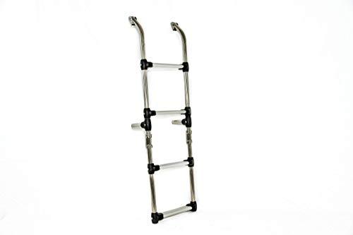 Escalera Plegable De Acero Inoxidable De 5 Escalones En Aluminio Antideslizante Para Barco: Amazon.es: Handmade