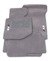 """BMW Genuine M Logo Gray Floor Mats for E46 - 3 SERIES M3 CONVERTIBLE (2000 - 2006), set of Four"""