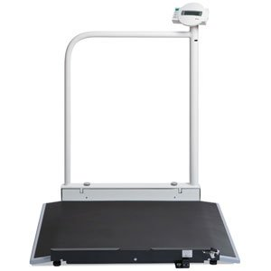Seca 676 Digital Wheelchair Scale with Hand Rail & Wireless (Seca Handrail Scale)