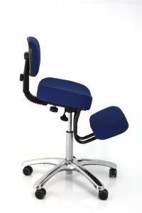 amazon com jobri blue jazzy chrome deluxe kneeling chair kitchen