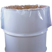 Cleartuff - 55 Gallon 38'' x 65'' 6 Mil Drum Liners - 100/Roll