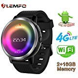 LEMFO LEM8 Smart Watch Phone 4G LTE - Android 7.1.1 MT6739 2GB+16GB 2MP