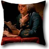 Oil Painting David Martin - Benjamin Franklin Pillow Shams 20 X 20 Inch / 50 By 50 Cm Gift Or Decor For Monther,indoor,chair,bedroom,office,kids Room - Each Side