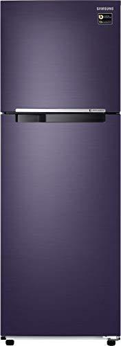 Samsung 272L 2 Star Inverter Frost Free Double Door Refrigerator  RT30T3082UT/HL, Pebble Blue