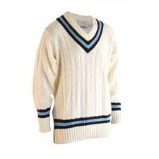 READERS NAVY/SKY TRIM CRICKET SWEATER - LARGE DS301V