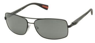 Prada Sport Sunglasses PS50OS / Frame: Black Demi Shiny Lens: Silver - Outlet Prada