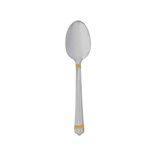 (Christofle Silver Plated Aria Gold Dessert Spoon 1022-014)