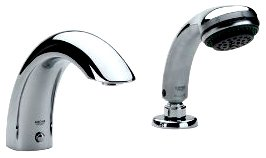 Talia Roman Tub Filler With Personal Hand Shower - Tub And Shower ...