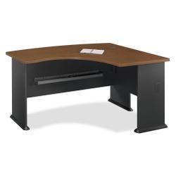 Series A L-Bow Desk, Hansen Cherry/Marbled Slate, 59-3/8w x 43-3/8d x 29-7/8h (BSHWC94422)